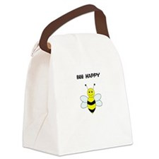 Bee Happy T Shirt Canvas Lunch Bag