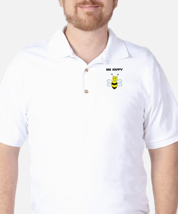 Bee Happy T Shirt Golf Shirt