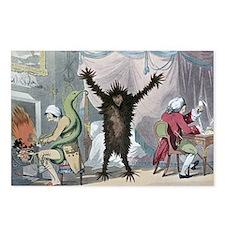 Fever and ague, satirical artwork - Postcards (Pk