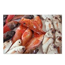 Fish at a market - Postcards (Pk of 8)