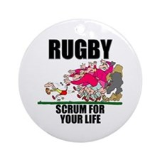 Scrum For Your Life Ornament (Round)