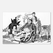 Gout complications, satirical artwork - Postcards