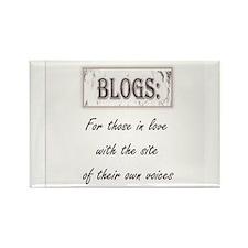 Anti blog sentiment Rectangle Magnet