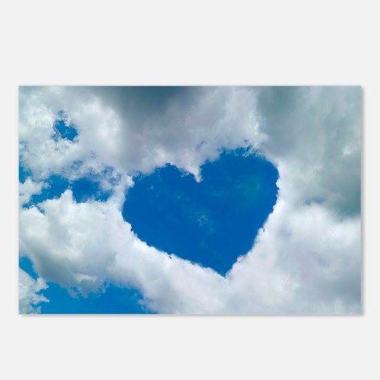 Heart-shaped cloud formation - Postcards (Pk of 8)