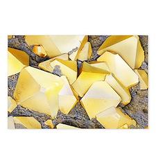 Iron pyrite crystals, SEM - Postcards (Pk of 8)