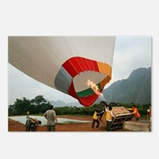 Launching a hot air balloon - Postcards (Pk of 8)