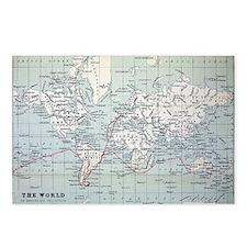Map2 Darwin's Beagle Voyage South America - Postca