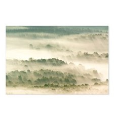 Morning mist over farmland - Postcards (Pk of 8)
