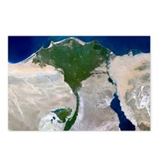 Nile Delta, satellite image - Postcards (Pk of 8)