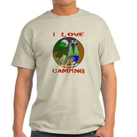 I LOVE camping bears Light T-Shirt