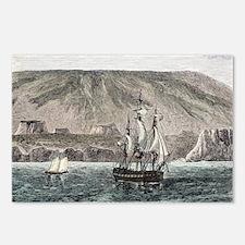 Old Sail ships Galapagos Island Isabela - Postcard