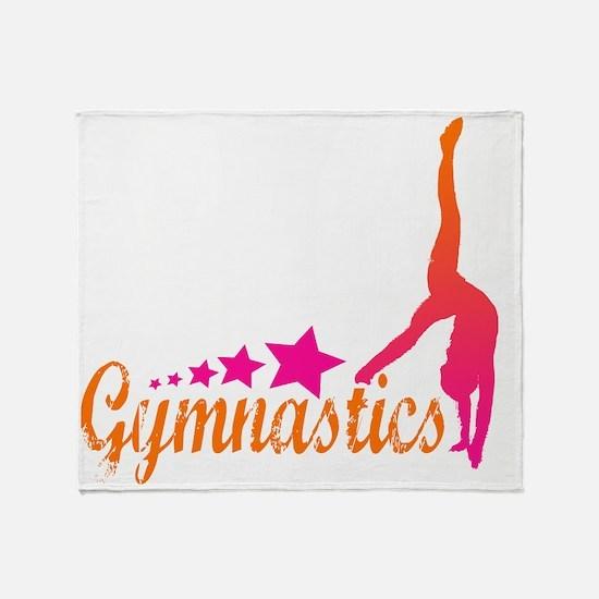 Gymnastics Star Throw Blanket