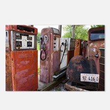 Rusty gas pumps and car - Postcards (Pk of 8)
