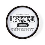 Inked University Property Wall Clock