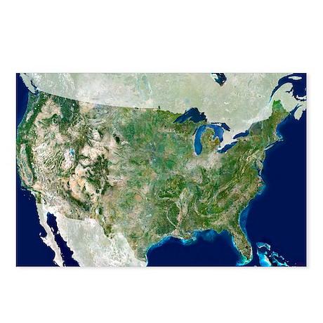 satellite image - Postcards (Pk of 8)