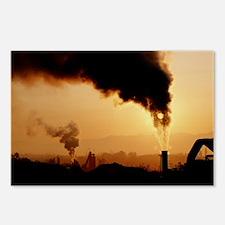 Smoke plume from asphalt plant - Postcards (Pk of