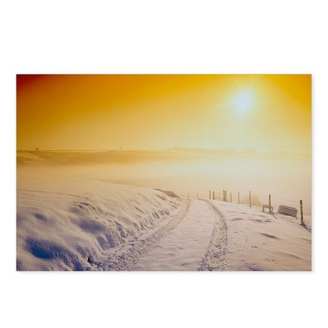 Snow covering Exmoor at sunset, Winter 1991 - Post