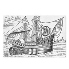 Ship with gimballed chair, 16th cent - Postcards (