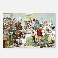 Smallpox vaccination, satirical artwork - Postcard