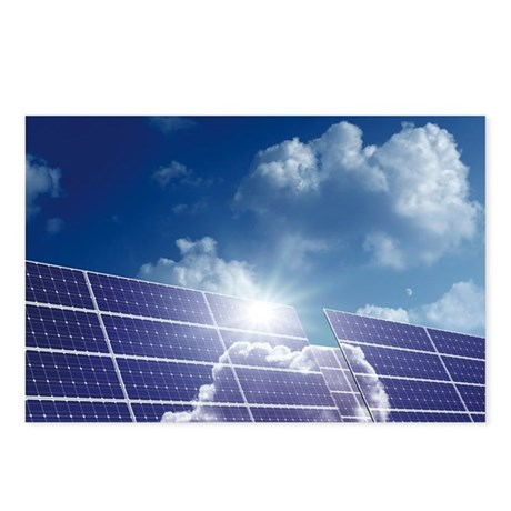 Solar panels in the sun - Postcards (Pk of 8)
