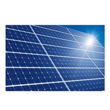 Solar panels in the sun - Postcards (Pk of 8)