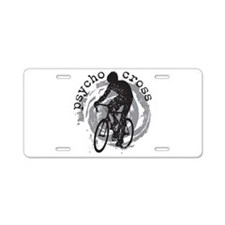 Psycho-Cross Aluminum License Plate