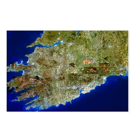 True-colour satellite image of Munster, Ireland -