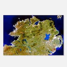 True-colour satellite image of Ulster, Ireland - P
