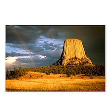 View of Devil's Tower, a basalt outcrop - Postcard