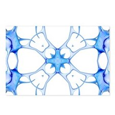 Neurons, kaleidoscope artwork - Postcards (Pk of 8