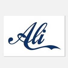 Ali name (Blue) Postcards (Package of 8)