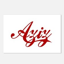 Aziz name Postcards (Package of 8)