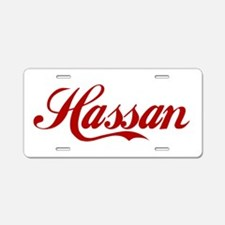 Hassan name Aluminum License Plate