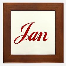 Jan name Framed Tile
