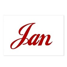 Jan name Postcards (Package of 8)