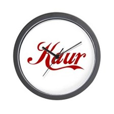 Kaur name.png Wall Clock