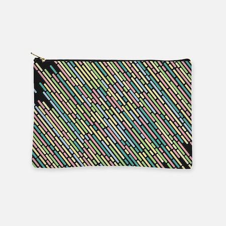 Colorful stripes lines vintage retro Makeup Bag