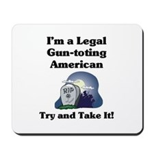 Gun-toting Mousepad