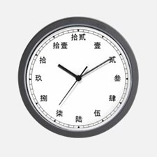 Chinese Number (Kanji) Wall Clock