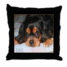 Puppy King Charles Spaniels Throw Pillow