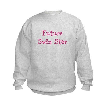 Future Swim Star Girl Kids Sweatshirt