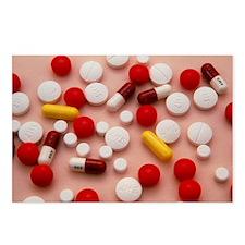 Assortment of antibiotic pills and tablets - Postc