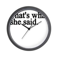thats what she said.png Wall Clock