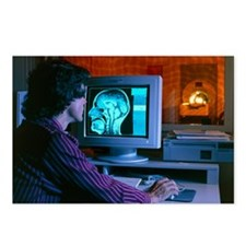 Control room of a CT scanner - Postcards (Pk of 8)