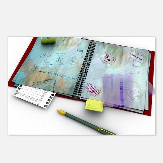 Laboratory notes, artwork - Postcards (Pk of 8)