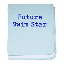 Future Swim Star Boys Blue baby blanket