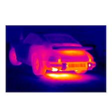 Porsche car, thermogram - Postcards (Pk of 8)