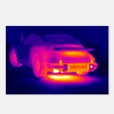 Porsche car, thermogram - Postcards (Pk of 8)