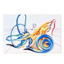 Artwork of inner ear - Postcards (Pk of 8)