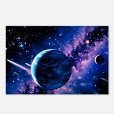 Artwork of comets passing the Earth - Postcards (P